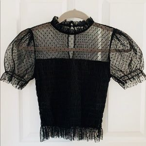 Windsor Black with Mesh Top NWOT